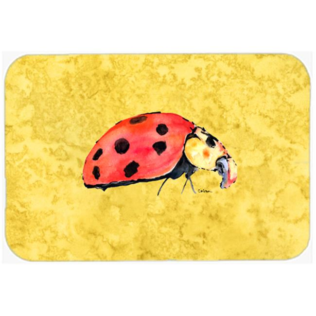 Carolines Treasures 8867MP 9.5 x 8 in. Lady Bug on Yellow Mouse Pad, Hot Pad or Trivet - image 1 de 1