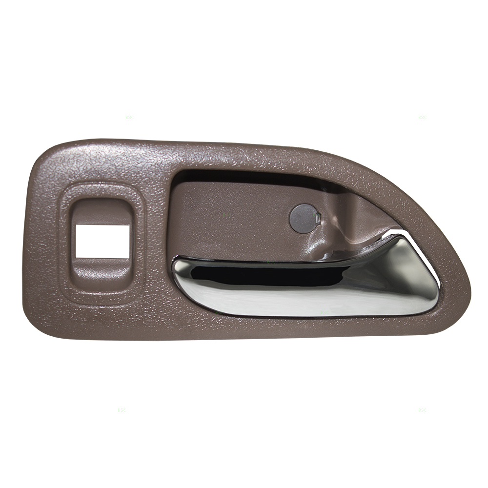 Passengers Rear Inside Interior Door Handle Chrome Lever w/ Brown Housing Replacement for Honda Accord 72665-SV4-A02ZD
