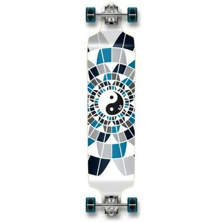 Professinal Speed Drop Down Complete Longboard Skateboard (Ying Yang) (Speed Skateboard)
