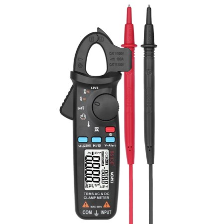 BSIDE Digital Clamp Meter Professional True RMS Auto-Range Clamp Type LCD Multimeter AC/DC Voltage Current Capacitance Continuity Test Temperature Tester Frequency Measurement