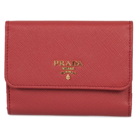 Prada Red Saffiano Leather Flap Wallet 1MH523 QWA (Red Pradas)