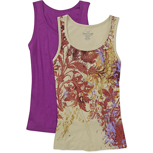 Faded Glory Women's Plus-Size Ribbed Tank, 2-Pack