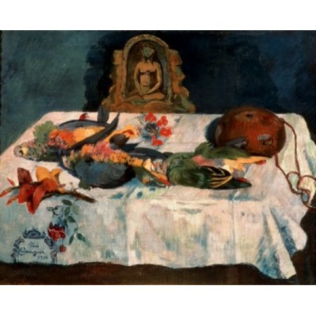 Paul Gauguin Museum - Still Life with Parrots 1902 Paul Gauguin 1848-1903 French Oil on Canvas Pushkin Museum of Fine Arts Moscow Canvas Art - Paul Gauguin (18 x 24)