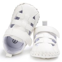 Baby Boys Cute Crib Shoes Anti-Slip Prewalker Soft Sole Shoes Sandals