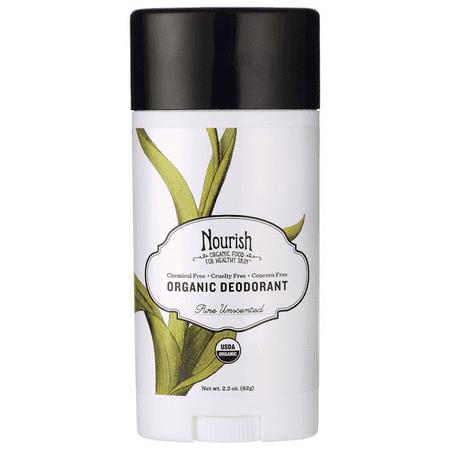 Nourish Organics Organic Deodorant - Pure Unscented 2.2 oz Stick(S) Organic Deodorant Twist Stick