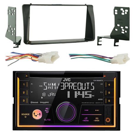 JVC KWR930BTS Double Din Bluetooth CD MP3 Player Stereo Receiver Bundle Combo With Metra 2-Din installation Dash Kit + Wiring Radio Harness & Wireless Handset For 2003-08 Toyota Corola Car Vehicles