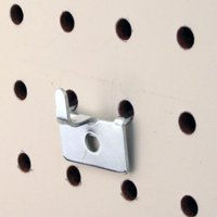 Pegboard Utility Notch Hook - Picture Hanger for Slatwall & Peg Wall - 10 Pack