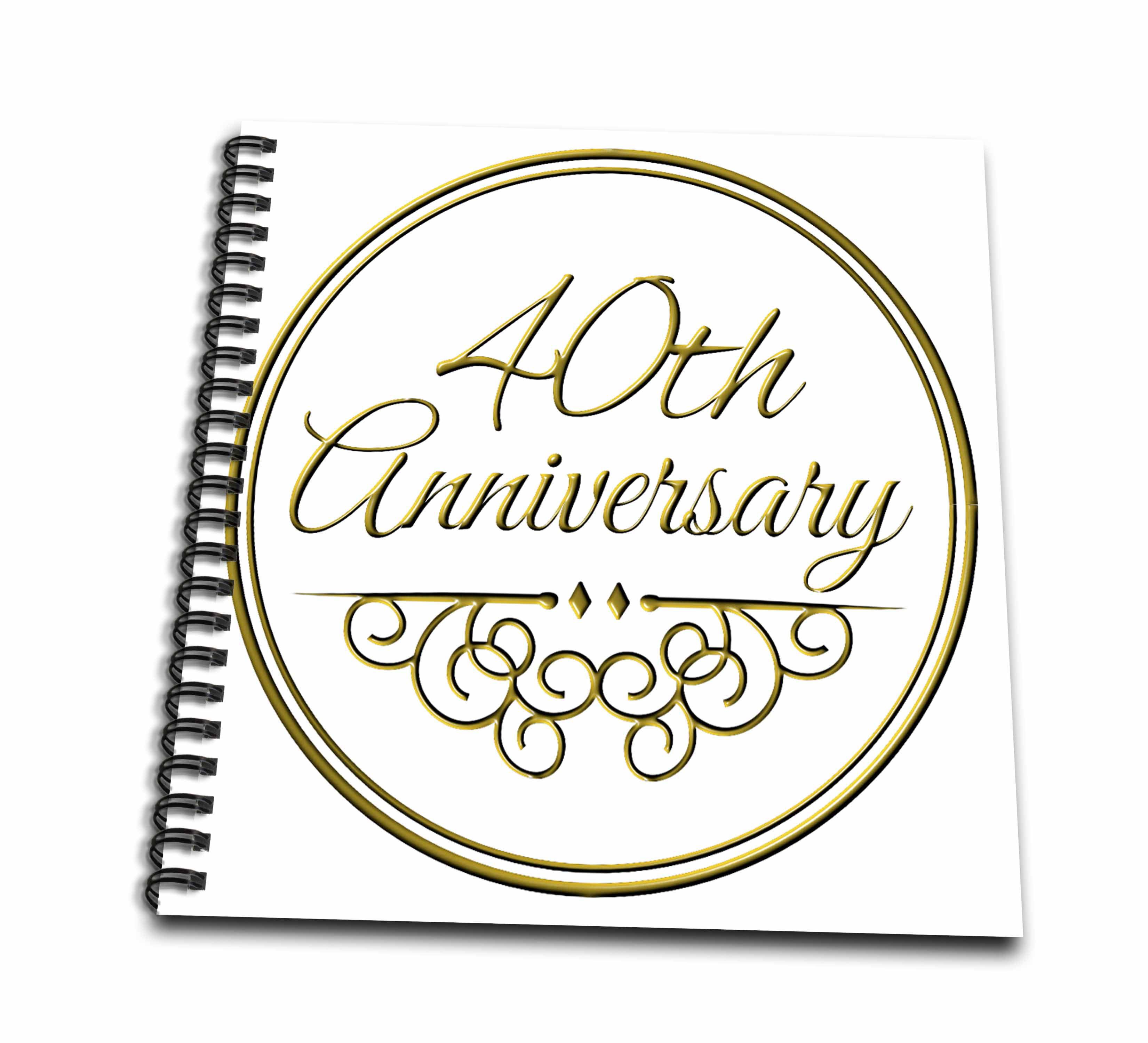 3 Wedding Anniversary Gift Ideas: 3dRose 40th Anniversary Gift