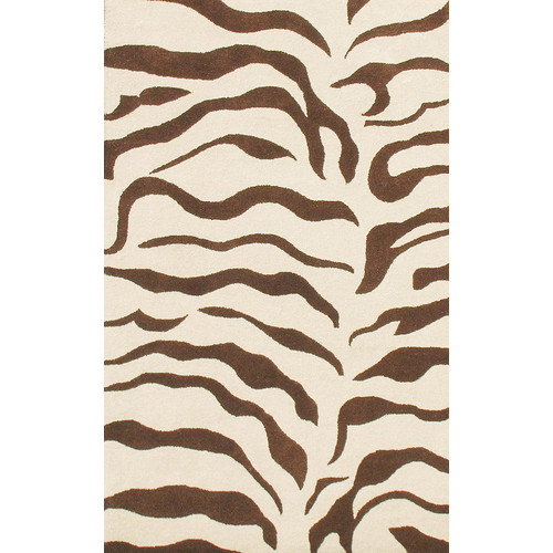 nuLOOM Earth Zebra Print Brown Area Rug