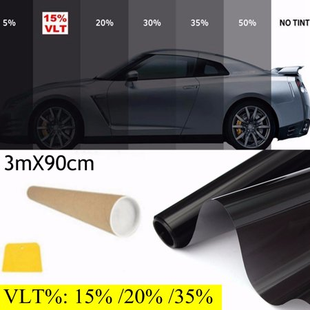 2PLY 36 x10 FT Professional 15% VLT Window Tint Film Medium Shade Roll Car Home Office Glass ()