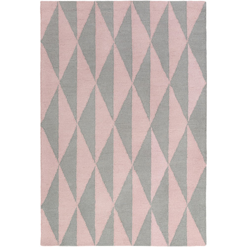 Artistic Weavers Hilda Sonja Hand-Crafted Gray/Light Pink Area Rug