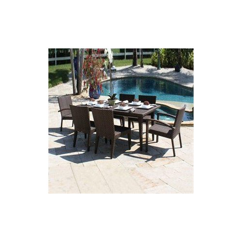 Hospitality Rattan 7 PC SET-903-72S Soho 7 Piece Outdoor Dining Set
