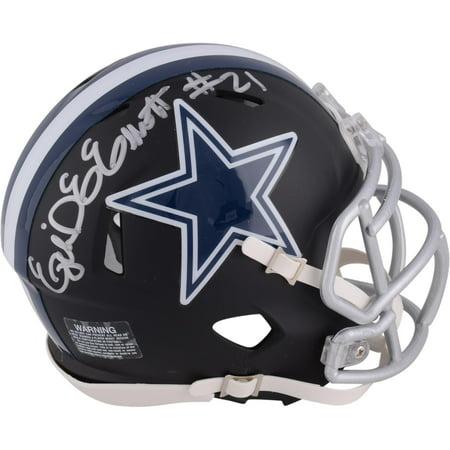 Ezekiel Elliott Dallas Cowboys Autographed Riddell Black Matte Alternate Speed Mini Helmet - Fanatics Authentic Certified