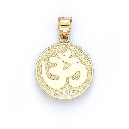 14k Yellow Gold Chinese Symbol Ohm Pendant 21 Grams Walmart