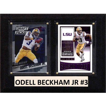 C   I Collectables Ncaa 6  X 8  Odell Beckham Jr Lsu Tigers 2 Card Plaque