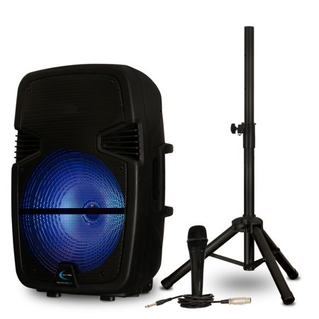 Technical Pro Pb15pkg Bluetooth 15 Quot Powered Led Speaker
