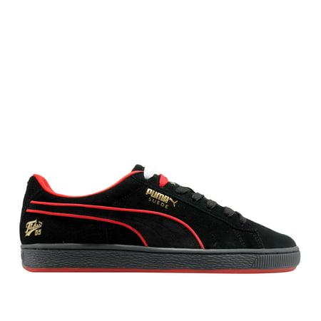 Puma Men's Suede Classic X Fubu Black High Risk Red Ankle High Fashion Sneaker 11M