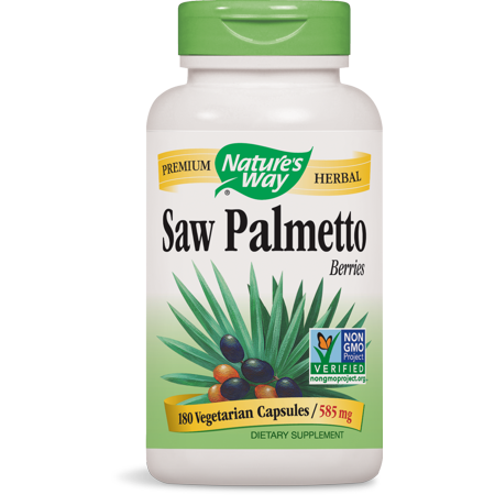 Natures Way Saw Palmetto Berries Non-GMO 180 Vegetarian Capsules