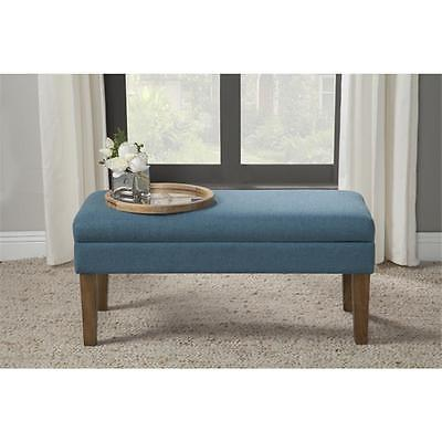 BrandNew Kinfine USA N6302-F1550 Chunky Textured Decorative Storage Bench Teal Home Furniture GSS180190465 by GSS