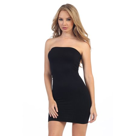 Kurve Strapless Stretchy Comfort Mini Sexy Tube Dress - Made in USA -