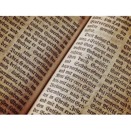 LAMINATED POSTER Bible Text Book Page Texture Font Background Poster Print 24 X 36