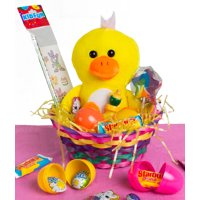 Duck Plush Toys 13pc Easter Sunday Gift Basket Treats Fill 4 Color Choices
