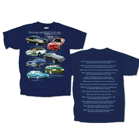 Navy Mustang - joe blow fmfbh-u ford fox body mustang highlight short sleeve adult t-shirt navy