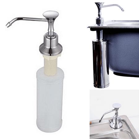 220ml White Kitchen Chrome Liquid Soap Dispenser Bathroom Sink Pump Bottles Chrome Contemporary Soap Dispenser