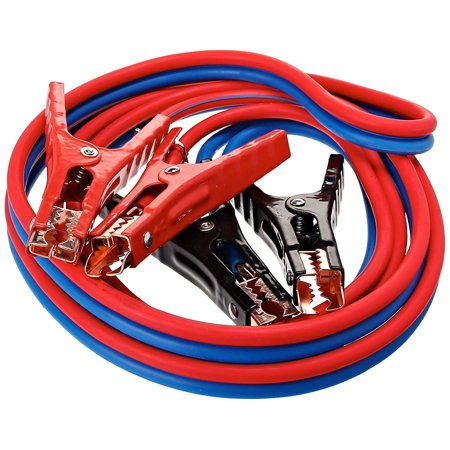 Super Heavy Duty 500 amp 6 gauge No Tangle Dual Construction Battery Booster Jumper Cables-Large for Cars Trucks Vehicles Automobiles((500 Amp 6 Gauge 12 Feet) & Travel Carry