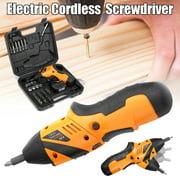 45in1 4.8V Electric Screwdriver Cordless Screw Gun Drill Kit P ower Tool with LED Light & + Carry Case
