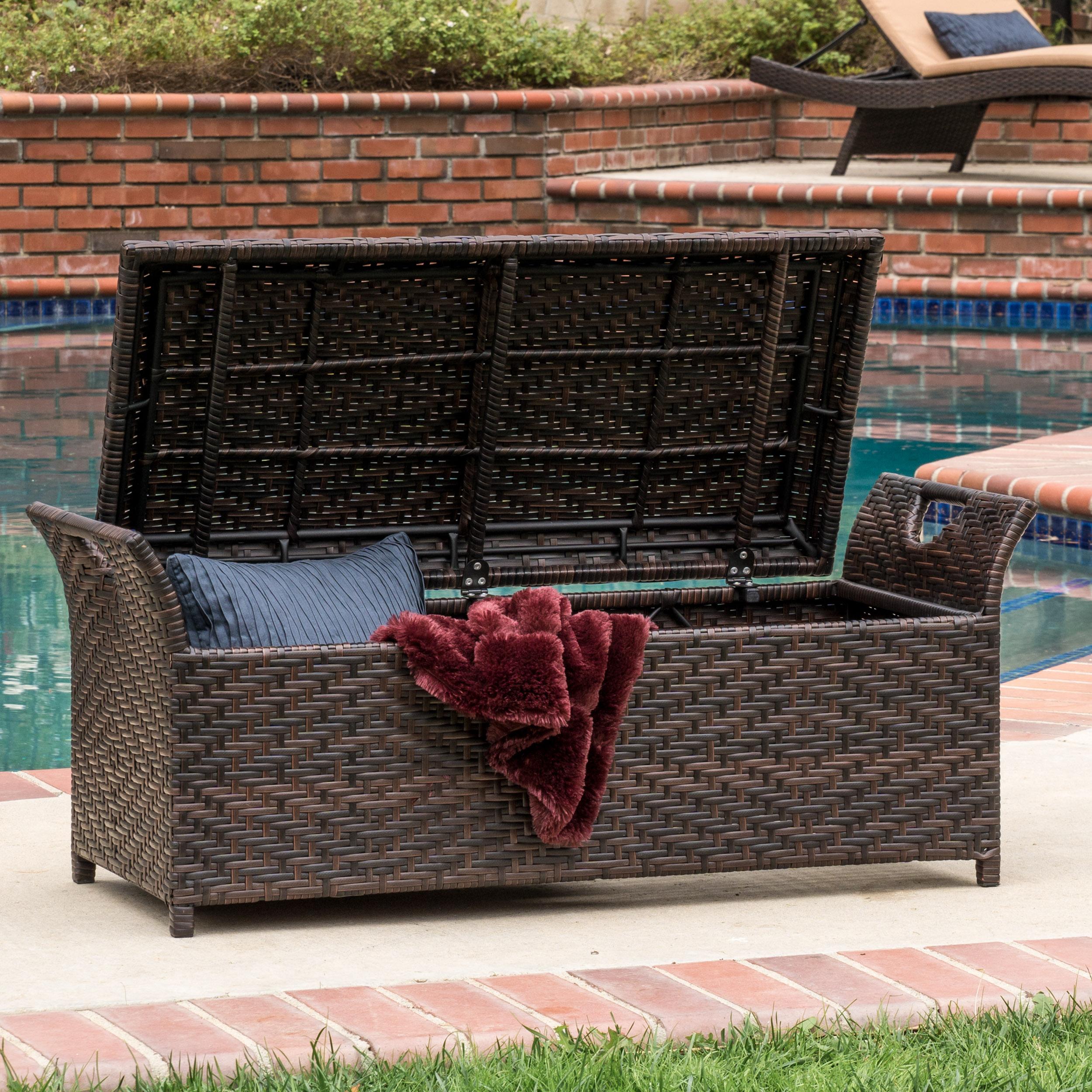 Monroe Wing Outdoor Storage Bench