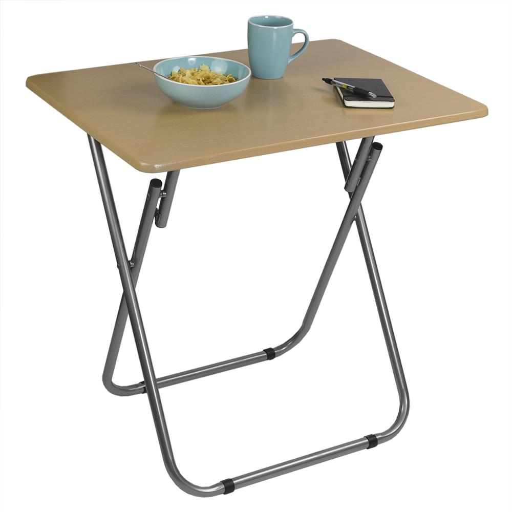 Home Basics Multi-Purpose Foldable Table, Cherry
