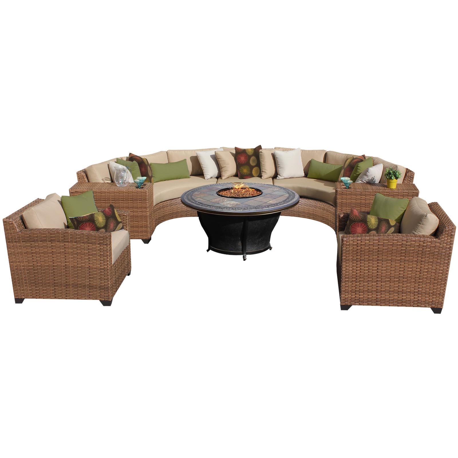 tuscan 8 piece outdoor wicker patio furniture set 08g - walmart