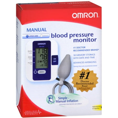 Omron Manual Inflation BP Monitor Digital D-ring Cuff 1 Count