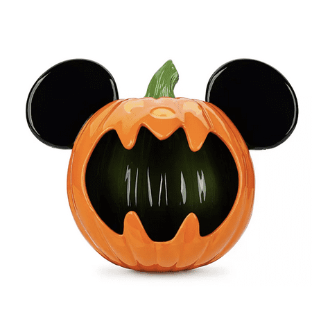 Disney Parks Happy Halloween Trick or Treat Mickey Mouse Pumpkin Candy Bowl