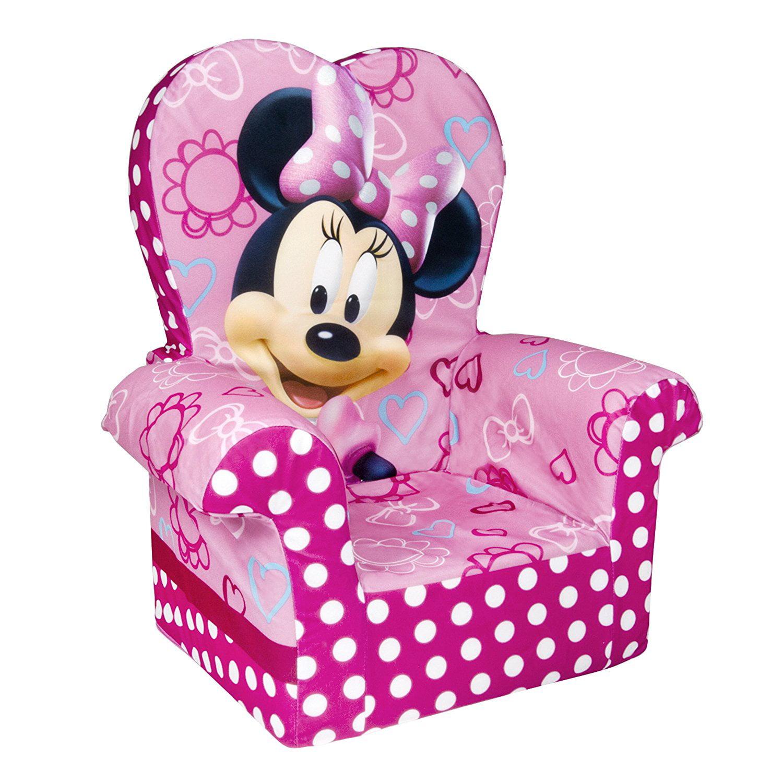 Marshmallow Furniture Minnieu0027s Bow Tique High Back Chair   Walmart.com