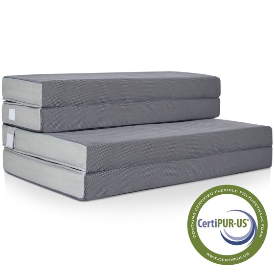 Best choice products 4 folding portable mattress full for Best store to buy a mattress