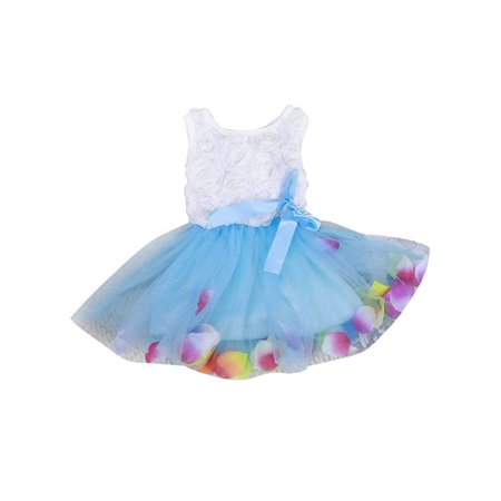 Tea Girl Dresses (Babula Baby Girls Flower Princess Party Wedding Tulle Tutu)