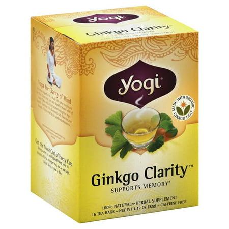 Yogi Thé bio, Gingko clarté, 1,12 Ounce, 16 Count