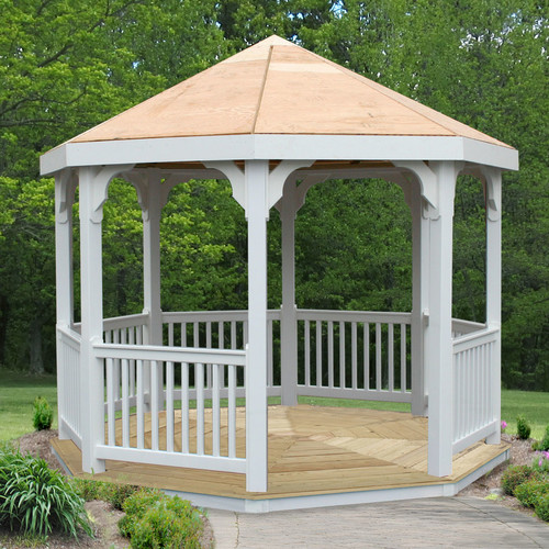 Creekvine Designs 10 Ft. W x 10 Ft. D Wood Permanent Gazebo by Creekvine Designs