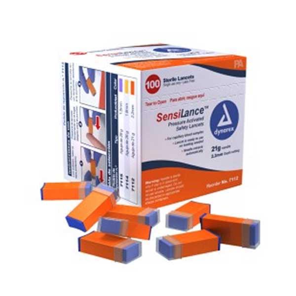 Dynarex SensiLance Safety Lancets Press 26 Gauge (100/Pack)