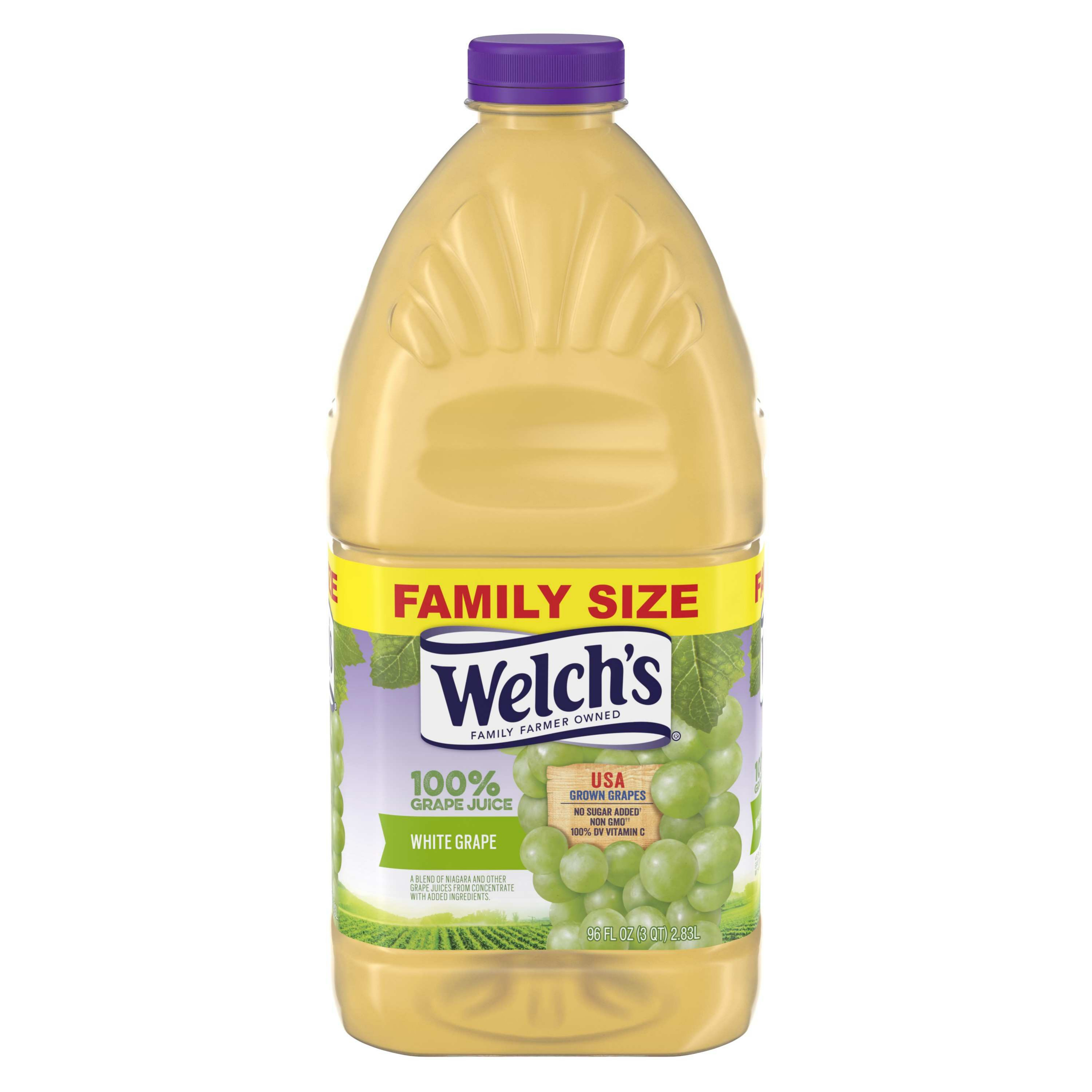Welch's 100% Juice, White Grape, 96 Fl Oz, 1 Count