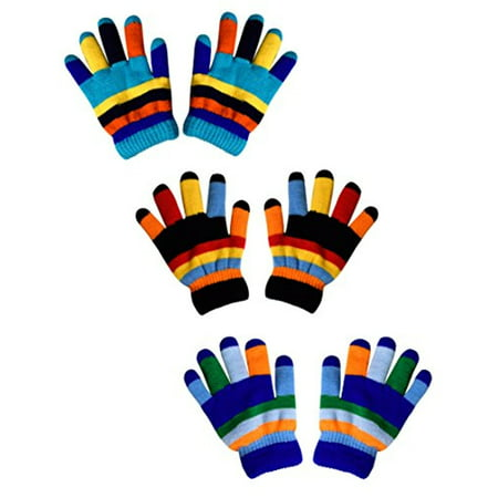 Peach Couture Childrens Toddler Warm Winter Gloves and Mittens Value packs (One Size, Rainbow 3 Little Kids)