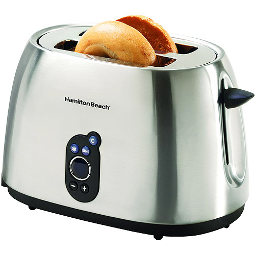 Hamilton Beach 22502 Digital Extra Wide 2-Slice Bagel Toaster with Toast Boost