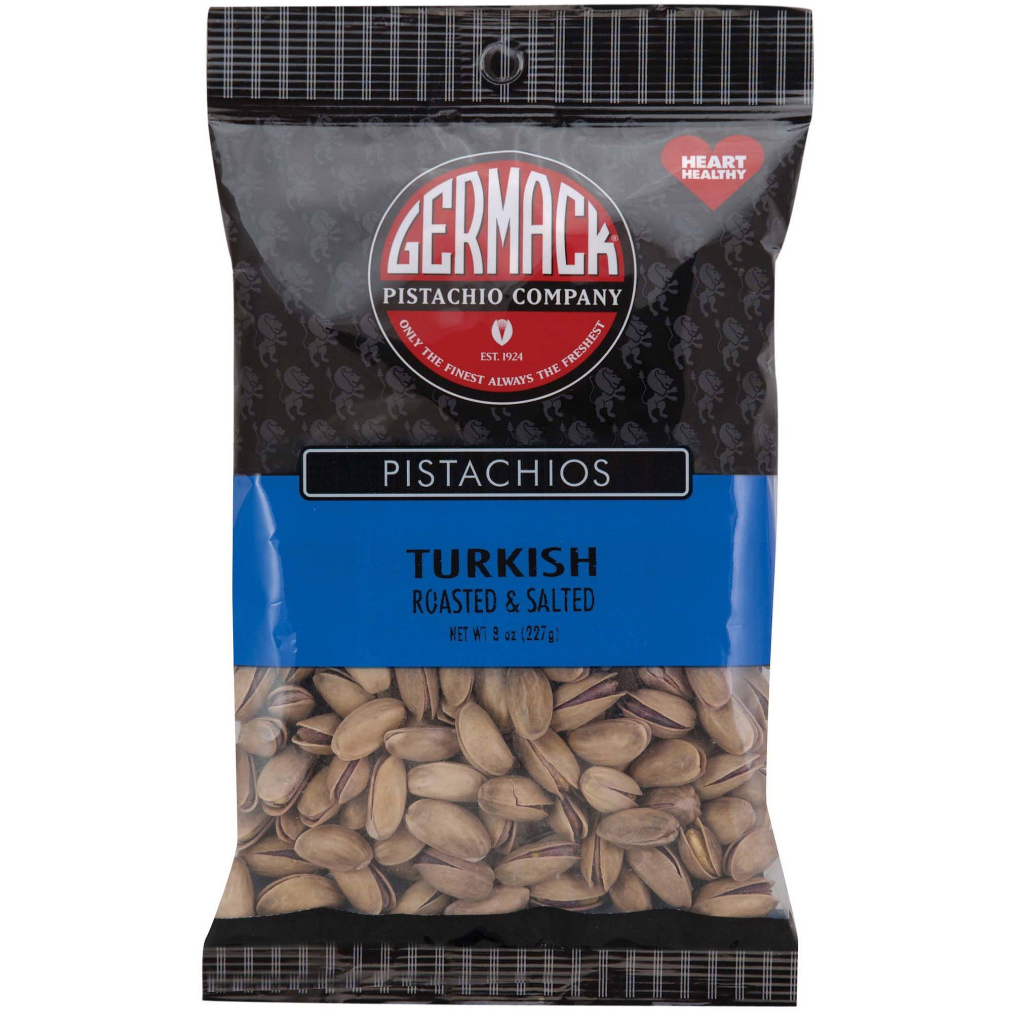 Germack Pistachio Company Turkish Roasted & Salted Pistachios, 8 oz by GERMACK