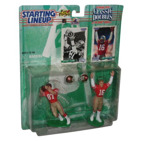 NFL Football Starting Lineup Classic Doubles Figure Set - (Dwight Clark & Joe Montana) ()