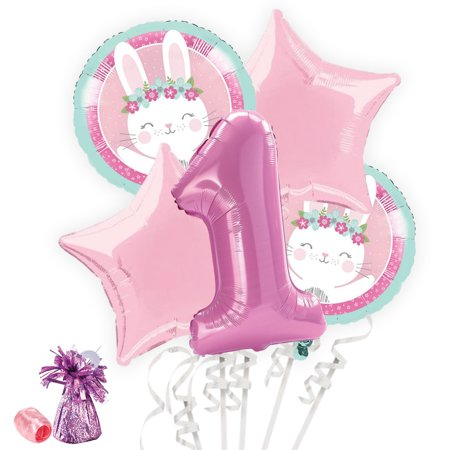 Easter Balloon - 1st Birthday Bunny Balloon Bouquet Kit