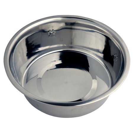 Vibrant Life Stainless Steel Dog Bowl with Paws, X-Large