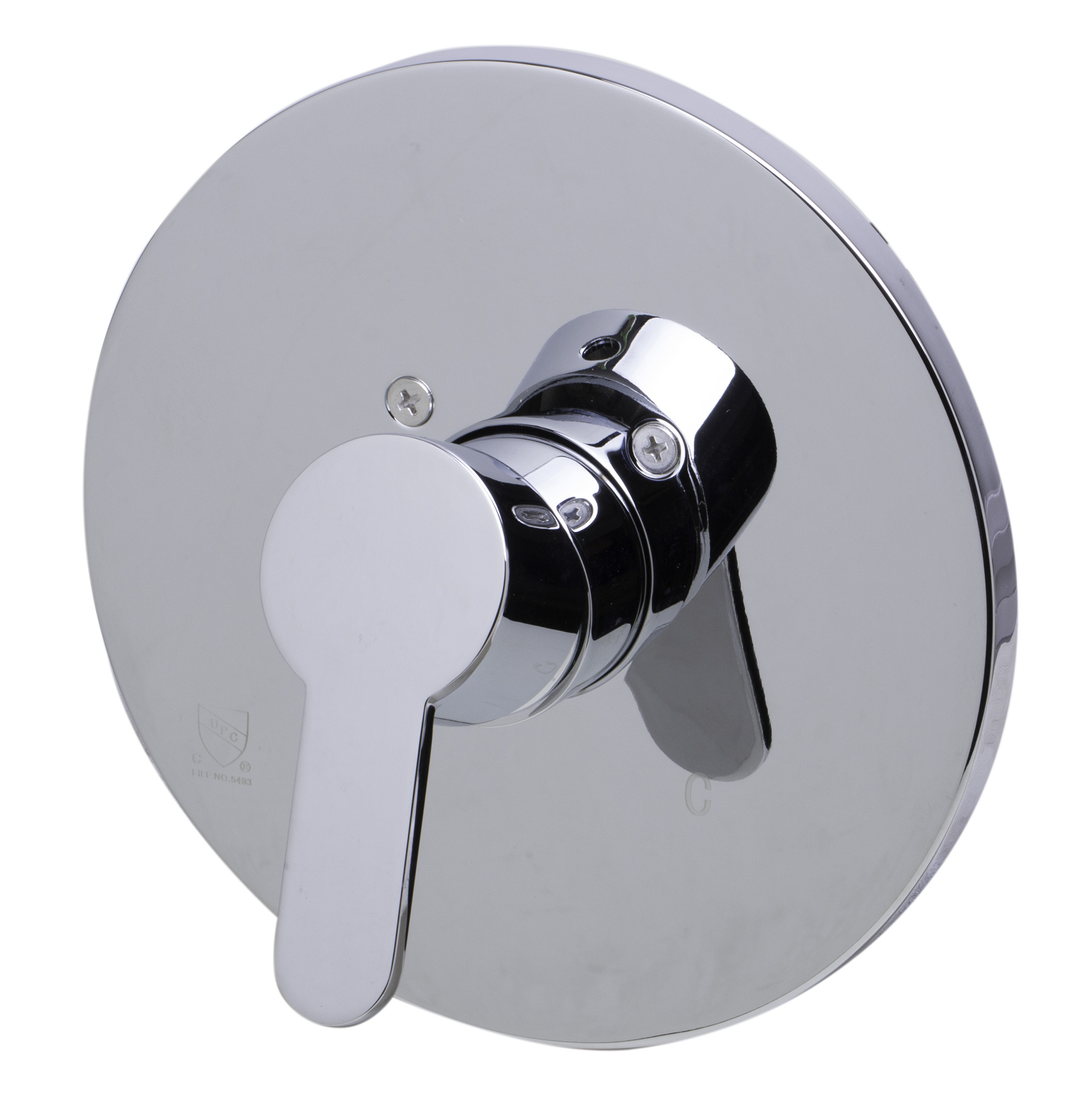 ALFI brand AB3001-PC Polished Chrome Shower Valve Mixer with Rounded Lever Handle