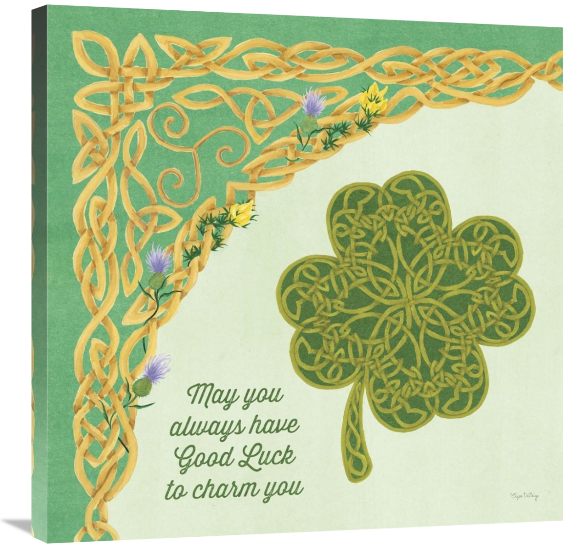 Global Gallery's 'Celtic Charm I' By Elyse DeNeige Stretched Canvas Wall Art